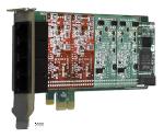 4 port modular analog PCI-Express x1 car