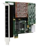 8 port modular analog PCI-Express x1 car