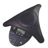 Polycom SoundStation2 (Non-Expandable) Conference Phone  Analog Conference Phone with Display (Includes 110V-120V AC Power/Telco Module with NA Plug  6.4m/21ft Console Cable  2.8m/9ft Telco Cable)