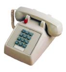 (SCITEC) 2510D Single-Line Desk Message Waiting Phone Ash