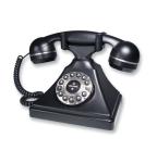 Single Line Retro Desk Phone Black