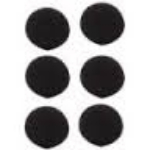 Circular Ear Cushion F/H132 (6PCS)