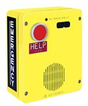 RED ALERT WiFi VoIP Surface-Mount Emergency Telephone in. HELPin. Button Non-Metallic Enclosure