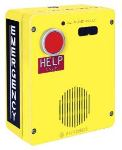 Emergency Telephone Single-Button Auto-Dial Surface-Mount Rugged Cast-Aluminum Enclosure with Voice Annunciation and Extreme Cold Weather Options (to -40 C) 120V ac Required