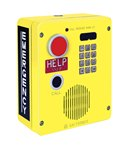 Emergency Telephone Single-Button Auto-Dial with CALL Pushbutton and Keypad Surface-Mount Rugged Cast-Aluminum Enclosure