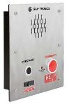 Emergency Telephone Two-Button Auto-Dial Flush-Mount with Extreme Cold Weather Option (to -40 C) 120V ac Required