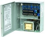 CCTV Power Supply  8 Fused Outputs  24/28VAC @ 3.5A  115VAC  BC100 Enclosure