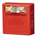 Horn Strobe  Ceiling  Weatherproof  24VDC  3dB  75CD  Red