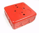 Backbox  4in.  Red