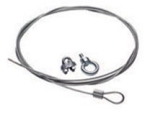 10in. Suspension Cable Kit Black