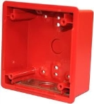 Backbox  4in. Deep  Red