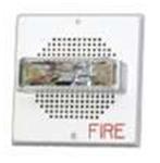 2 Watt Speaker Strobe  Square  Wall  24VDC 15/30/75/110CD  White