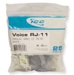 Voice  RJ-11  EZ  25 PK  White