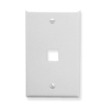 Face Plate Flat 1-Gang 1-Port White