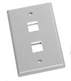 Face Plate Flat 1-Gang 2-Port White