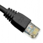Patch Cord CAT 5E Molded Boot 1 FT Black