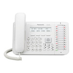 24 Button 3-Line Backlit LCD Display Digital Telephone w/Full Duplex Speaker Phone Electronic Hook Switch White