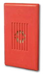 Series MIZ Mini Horn  Wall  Temporal/Continuous  24VDC  Red