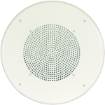 Speaker Grille Round Steel Bright White