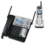 SB67138 SynJ 4-Line Corded/Cordless Small Business System w/Extendable Range & Push-to-Talk Intercom